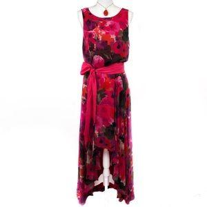 NWOT Eliza J High Low Floral Maxi Dress